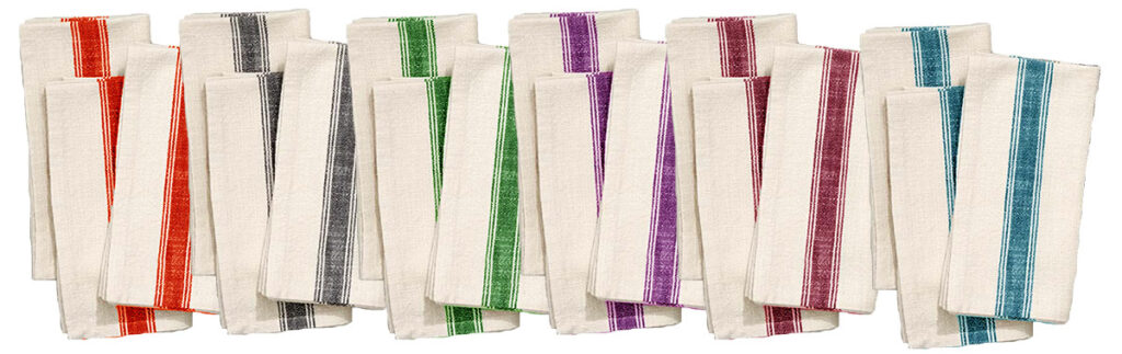 standard bistro napkins yarn dyed colors