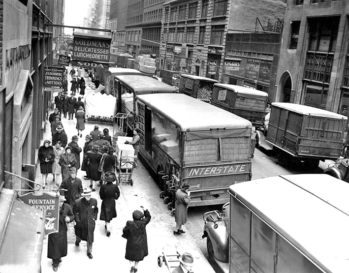 garment district New York City 1920's